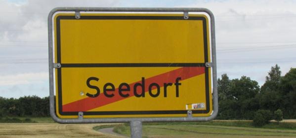 Seedorf Ortsschild Ortsausgang