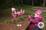 Mit den Kindergärten im Wald