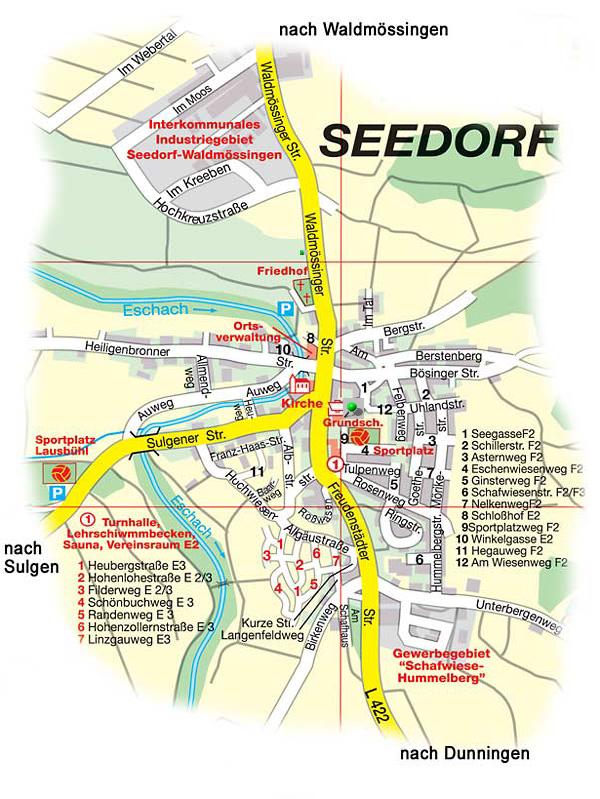 Anfahrt zur Grundschule Dunningen in Seedorf
