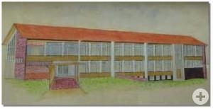 Zeichnung Schulgebäude